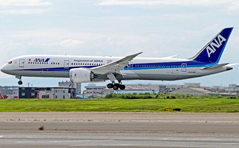 ANA B787が初飛来 | 宮古島経済新聞